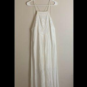 C&C California Ivory Maxi Dress Embroidered